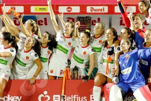 La selección española femenina de hockey sobre hierba.