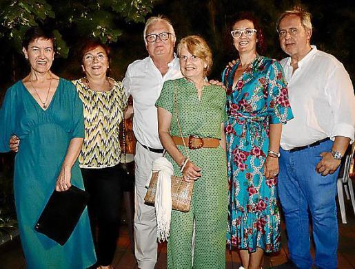 Dolors Garcia, Maria Pau Morell, Pere Serra, Valentina de Castellarnau, María José Morell y Gabriel Payeras.