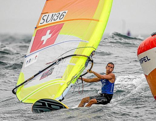 Mateo Sanz, en acción durante la competición celebrada en aguas japonesas.