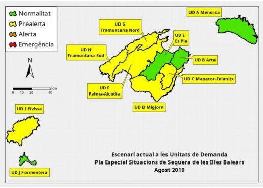 Las reservas hídricas bajan del 45% al 40% e Ibiza entra en prealerta por sequía.
