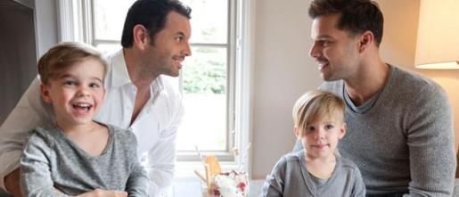 Ricky Martin y su familia.