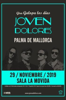 Cartel del concierto de Joven Dolores en La Movida.