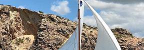 El bote ibicenco 'Javi', invitado en la XXIII Diada de la Vela Llatina de Cala Gamba