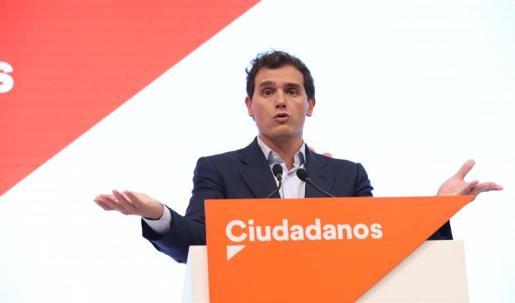 El presidente de Ciudadanos, Albert Rivera, ofrece una rueda de prensa tras el Comité Permanente del partido.