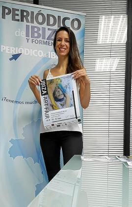 La impulsora del Ibiza Art Fair, Adriana Daly-Peterova en las instalaciones del Grupo Prensa Pitiusa.