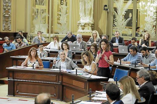 La consellera Rosario Sánchez interviene en un pleno .