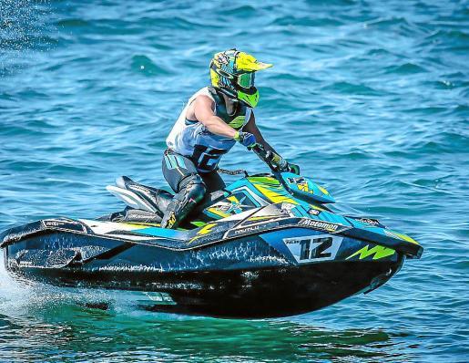 Juan Carlos Palau, en acción durante la competición.