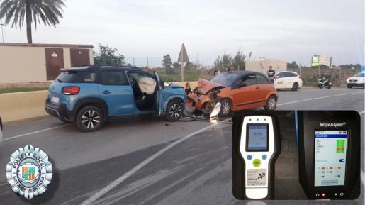 Imagen de la colisión en Platja d'en Bossa.