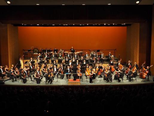 La Orquestra Simfònica de les Illes Balears en un concierto en el Auditórium de Palma.