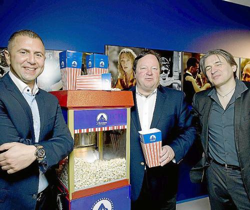 Momento de la presentación del nuevo canal de cine en abierto.