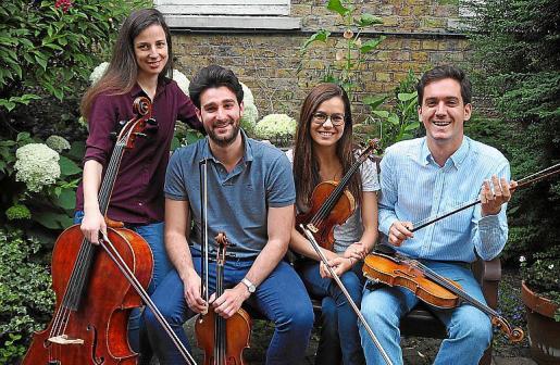 El grupo Alauda Quartet actúa el domingo 6 a las 20.30 horas.