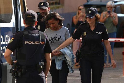 Ana Julia Quezada arriba a l'Audiència Provincial d'Almeria per escoltar el veredicte sobre la mort violenta de Gabriel Cruz.