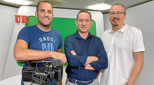 Alberto López, Manolo Coeto y Ricard Peitx, de Nova Producciones.