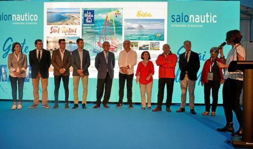 Una imagen del acto de presentación del evento, celebrado ayer en el Salón Náutico Internacional de Barcelona.