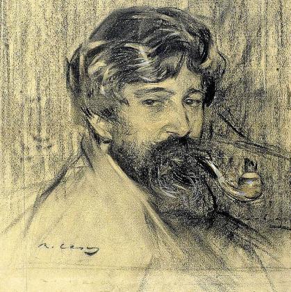Rusiñol, dibujado por Ramón Casas.