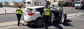 Detenido un hombre por agredir a su pareja en plena calle en Santa Eulària