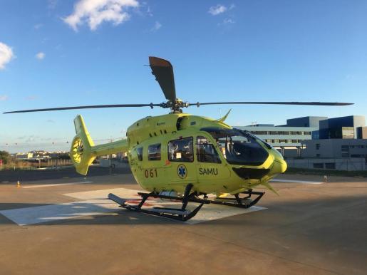 Este es el modelo de helicóptero EC145 que se puso en marcha con la nueva compañía adjudicataria.