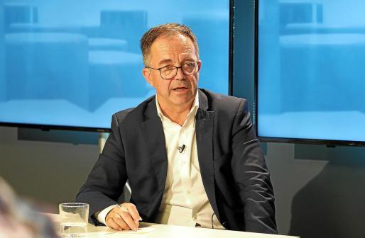 Josep Marí, durante la entrevista anoche en el programa 'Bona Nit Pitiüses' de la TEF.
