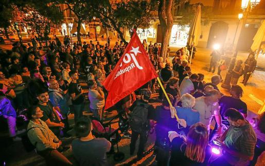 Imagen de la protesta contra la sentencia del 'procés' el pasado lunes en Ibiza