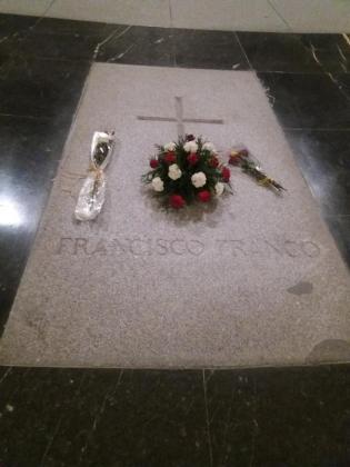 La tumba de Francisco Franco, en la Basílica del Valle de los Caídos.