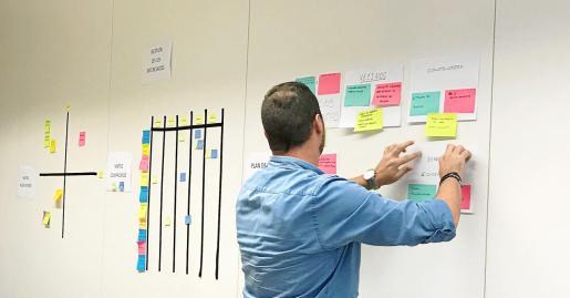 Imagen de una de las actividades de dinámica de grupo del curso de Especialista Universitario en 'Project Management'.
