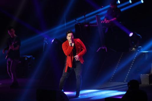 El cantante David Bustamante, durante su actuación en Trui Teatre.