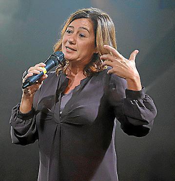 Francina Armengol en la gala de entrega de los Siurells de Plata 2019.