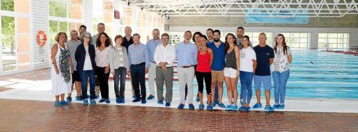El rector de la UIB Llorenç Huguet y el director de la Fundació Universitat-Empresa Luis Vegas presidieron la presentación de las instalaciones renovadas de CampusEsport.