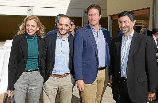 Silvia Mulet, Manuel Cáceres, Rafael Cortés y Eduardo Martínez.