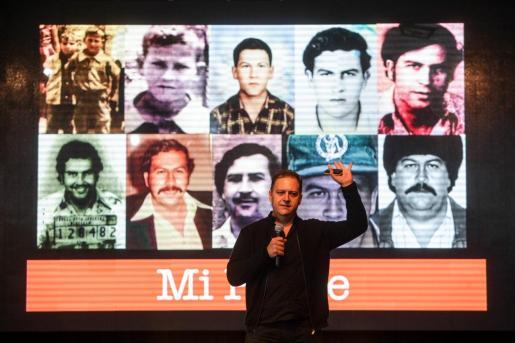 Momento de la conferencia de Juan Pablo Escobar, ayer.