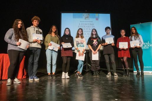 El Espai Cultural Can Ventosa de Ibiza acogió ayer por la tarde la entrega de premios de este concurso literario organizado por el IES Santa María.