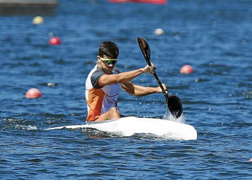 Hugo Prendes, en acción durante una competición.