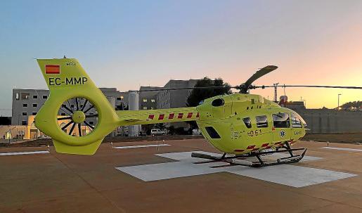 El helicoptero que opera en Ibiza.