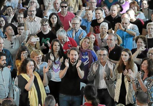 Mitin de Pablo Iglesias en Palma.