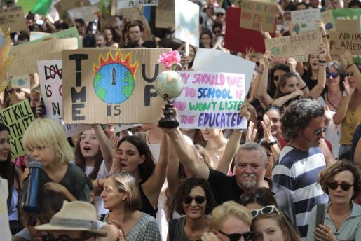 Imagen de archivo de una manifestación en Palma.