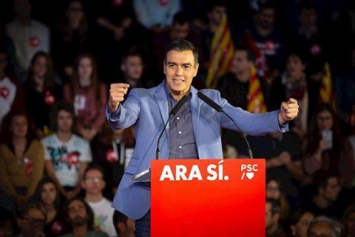 Sánchez cierra campaña en Barcelona.