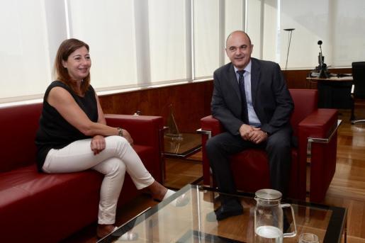 Reunión entre Francina Armengol y Vicent Marí.