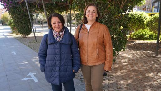 Las candidatas al Congreso y al Senado por el PSOE, Sofía Hernanz y Patricia Abascal.