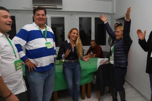 Emoción en la sede de Vox Ibiza tras conocerse los resultados finales.