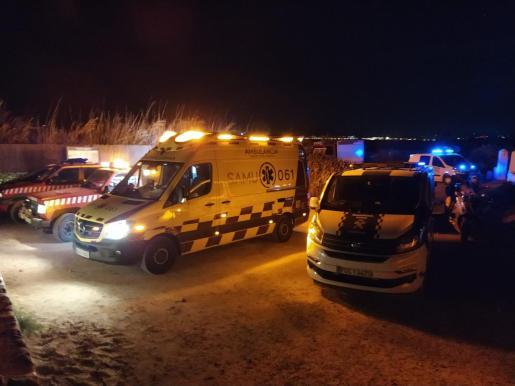 Operativo de rescate del joven gravemente herido.