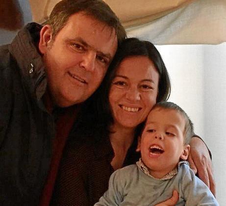 Gregorio Codolá, Leonor Félix y Miquel, que tiene diversidad funcional.