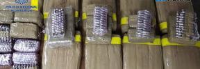 Tres detenidos y varios cientos de kilos de droga incautada en Mallorca