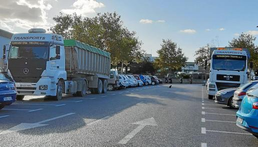 Incivismo de los conductores de camiones.