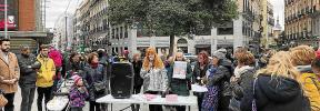 Familiares de Vanesa Patricio Escandell participan en una concentración en Madrid para exigir justicia