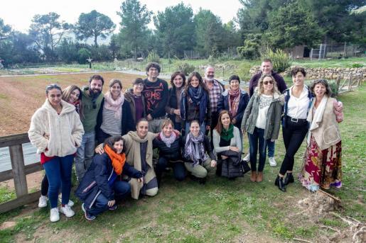 Los responsables de Cáritas reunieron ayer a los agentes sociales en Can Pep Xico.