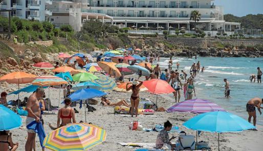 La playa de Sant Adeodat (es Migjorn Gran), en Menorca.