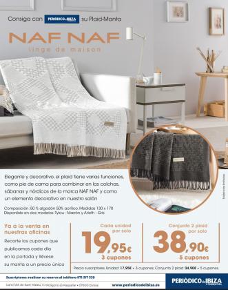 Consigue con Periódico de Ibiza y Formentera su plaid-manta firmado por Naf Naf.