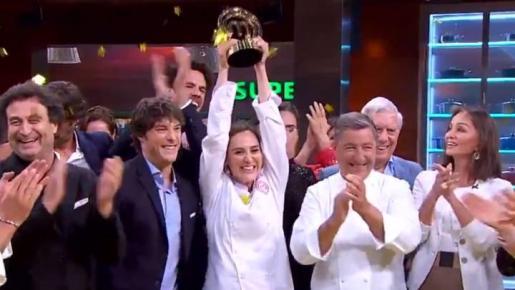 Tamara Falcó, con el premio.