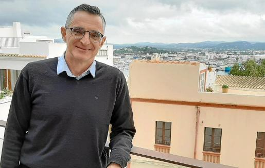 Fernando Marina Miguel, ayer en la terraza de Can Botino.