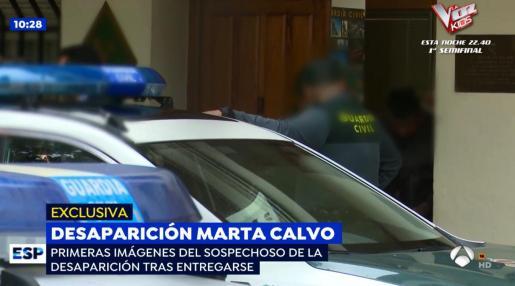 Imágenes de televisión de Antena 3, en la que se puede ver al sospechoso de la desaparición de Marta Calvo.